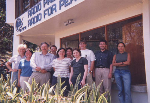 Radio for Peace International staff in 1999